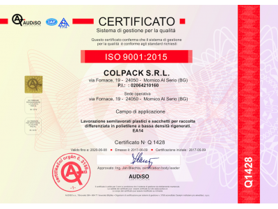 ISO 9001:2015, un continuo miglioramento